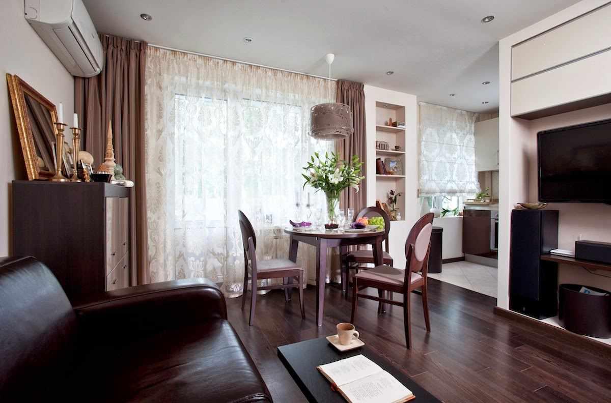 Зонирование однокомнатной квартиры 33 кв м