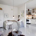 Скандинавский стиль в однокомнатной квартире