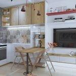 гостиная в маленькой кухне