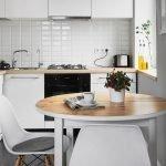 Деревянные поверхности на кухне