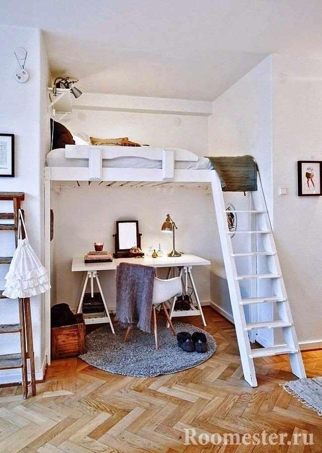 Кровать-чердак и рабочее место