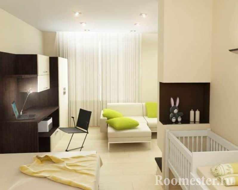 Дизайн однокомнатной квартиры для семьи