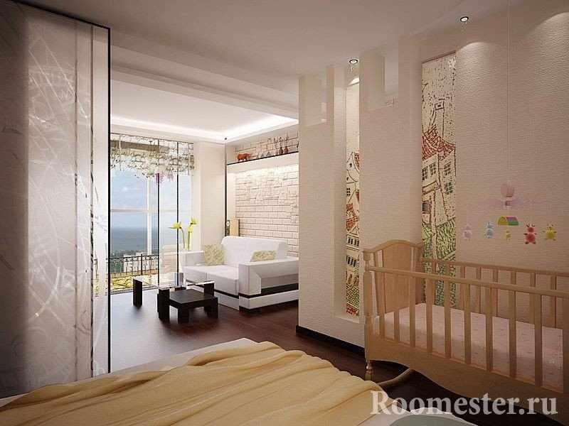 Однокомнатная квартира с панорамным окном