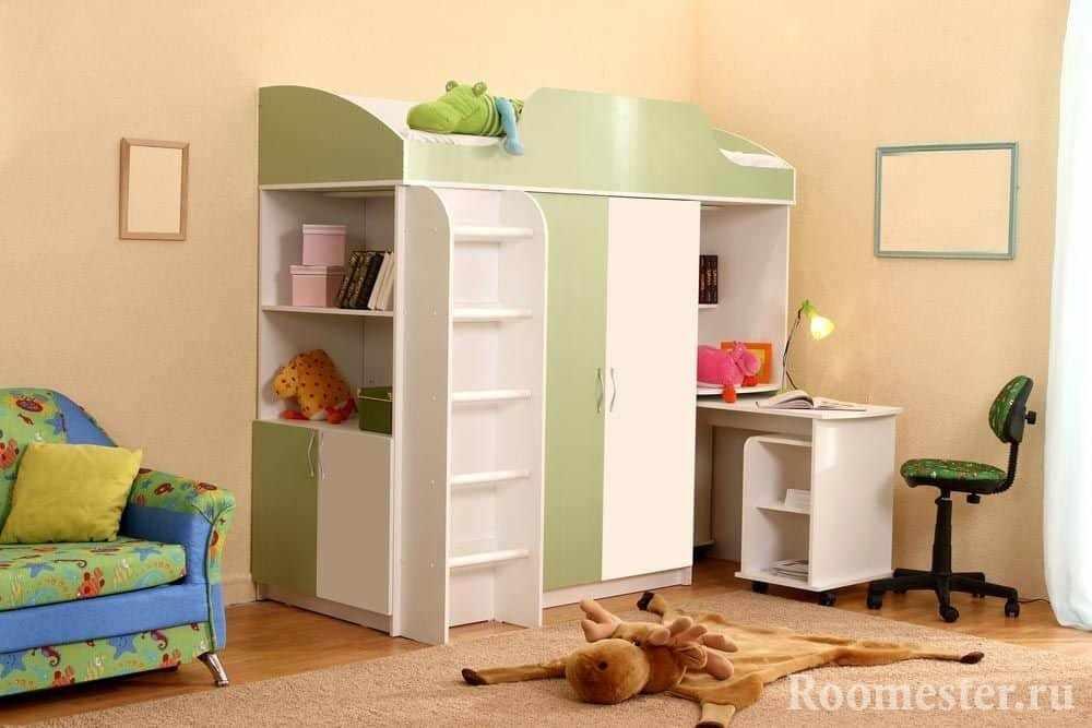 Комната с детским шкафом-кроватью