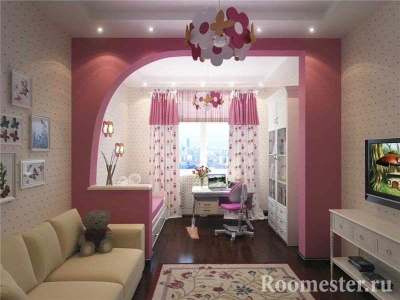 Дизайн однокомнатной квартиры для родителей и дочки