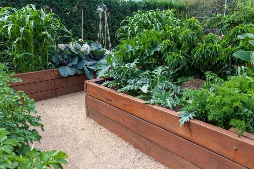 Деревянные емкости для огорода