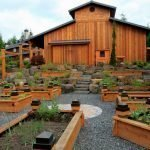 Современный дизайн огорода