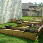 Деревянные контейнеры для огорода