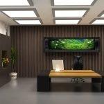 Вариант освещения потолка в кабинете