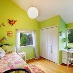Зеленый в дизайне детской