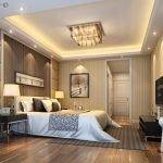 Дизайн потолка в спальне с подсветкой