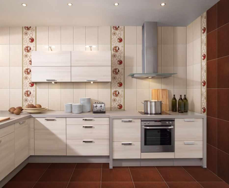 Точечные светильники в интерьере кухни