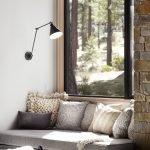 Серый диван-подоконник
