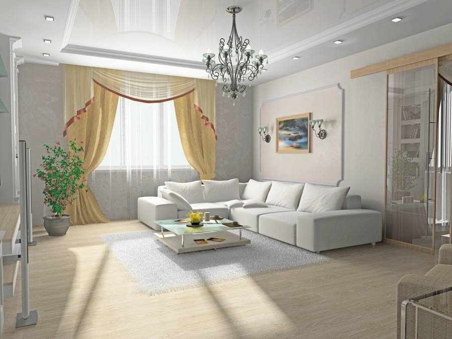Подвесной потолок в зале