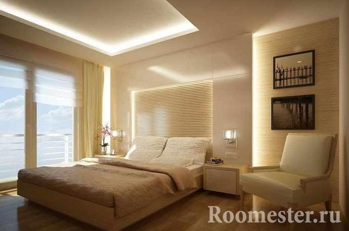 Потолки из гипсокартона со светодиодной подсветкой