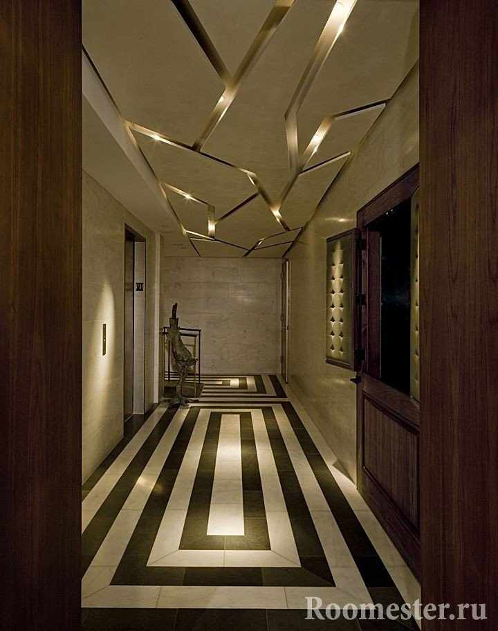 Подвесной потолок с оригинальной подсветкой