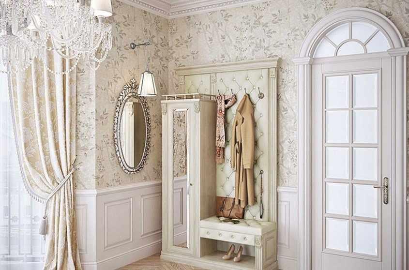 Декор в прихожей в классическом стиле