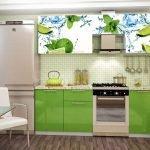 Лимоны на фасаде кухонной мебели