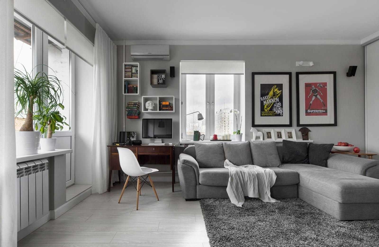 Планировка квартиры-студии с рабочей зоной