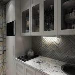 Столешница под мрамор на кухне