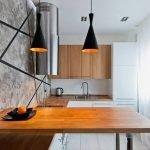 Деревянная столешница на кухне