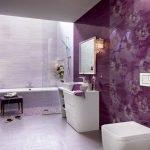 Сливовый в дизайне ванной