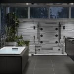 Черно-серая ванная комната