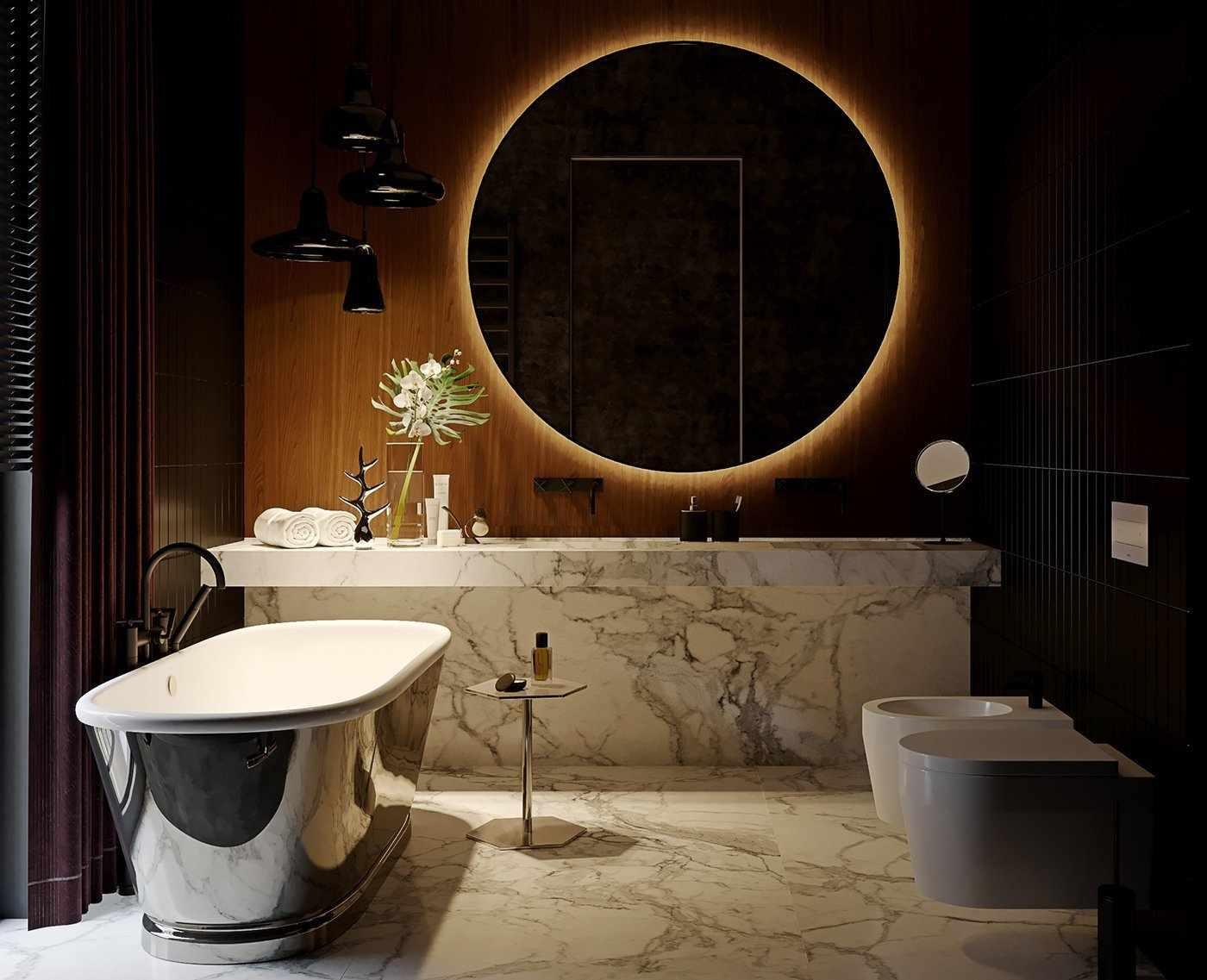 Необычный дизайн-проект ванной
