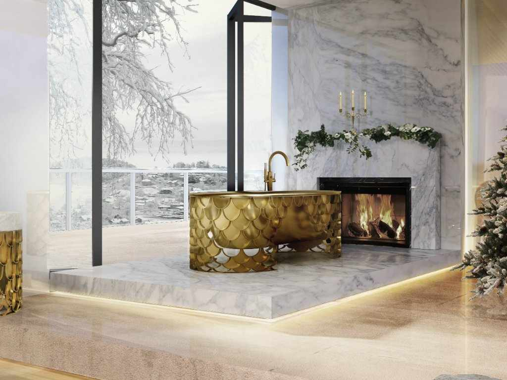 Стиль лакшери в дизайне ванной