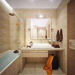 Прямоугольная ванная комната