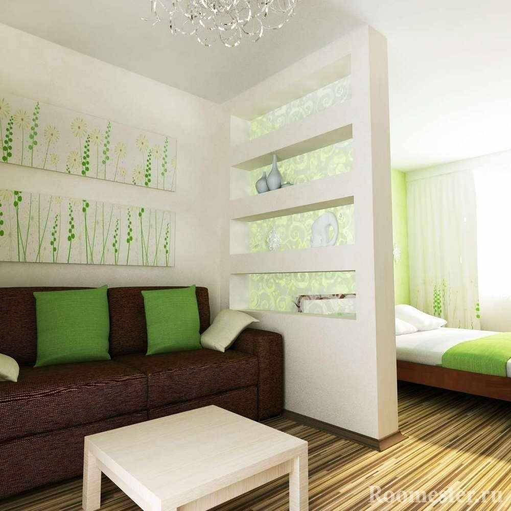 Спальня за перегородкой