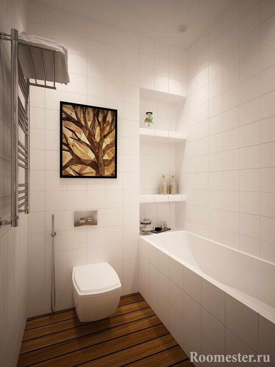 Санузел с гигиеническим душем и ванной