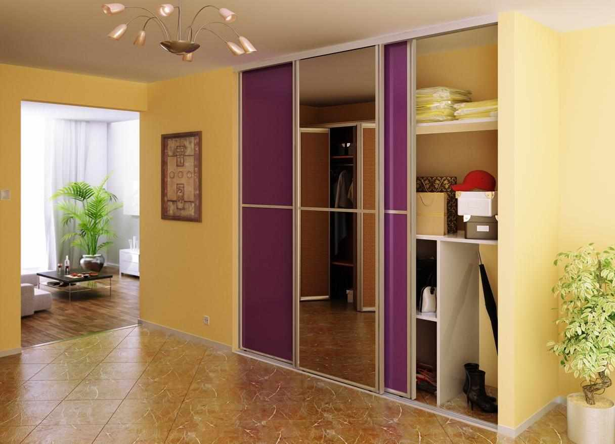 Фиолетовый шкаф