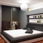 Черный шкаф-купе для спальни