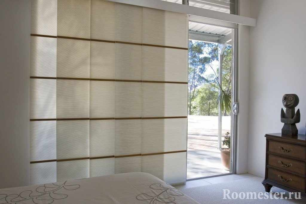 Японские - раздвижные шторы