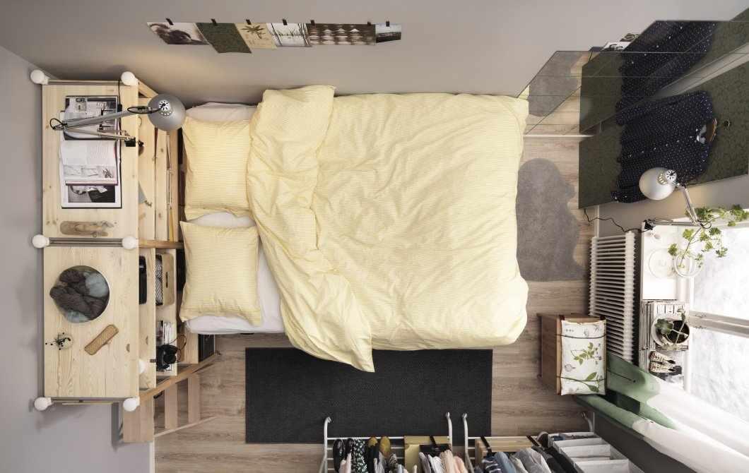 Планировка в маленькой спальне