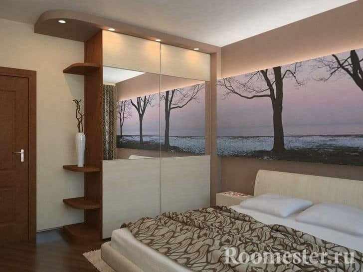 Шкаф в спальне 13 кв метров