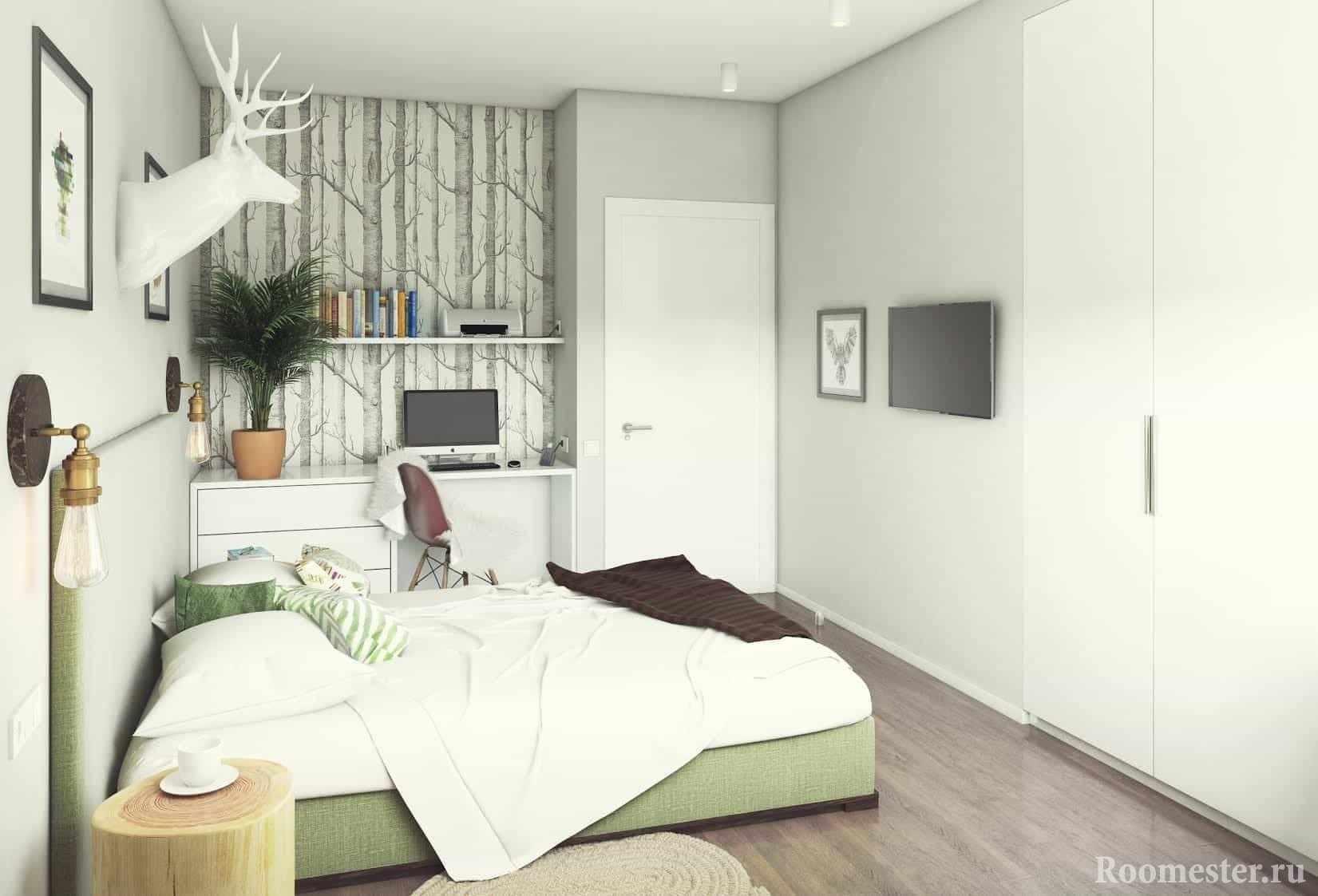 Спальня 13 кв м с кабинетом