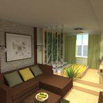 Яркий интерьер комнаты