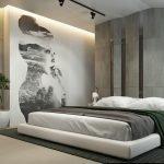 Стильный декор стены в спальне