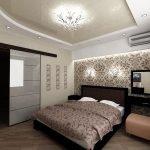 Классический интерьер спальни в доме