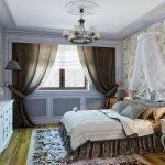Классический декор спальни 16 кв. м.