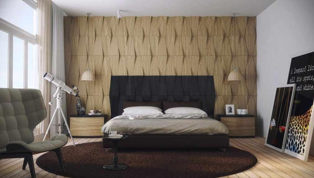 Декор стен геометрическими фигурами