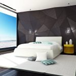 Геометрия в декоре спальни