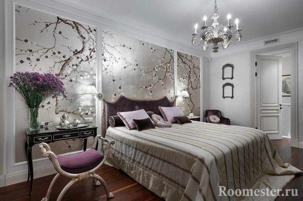 Спальня с фотообоями