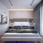 Лампы на стене у кровати