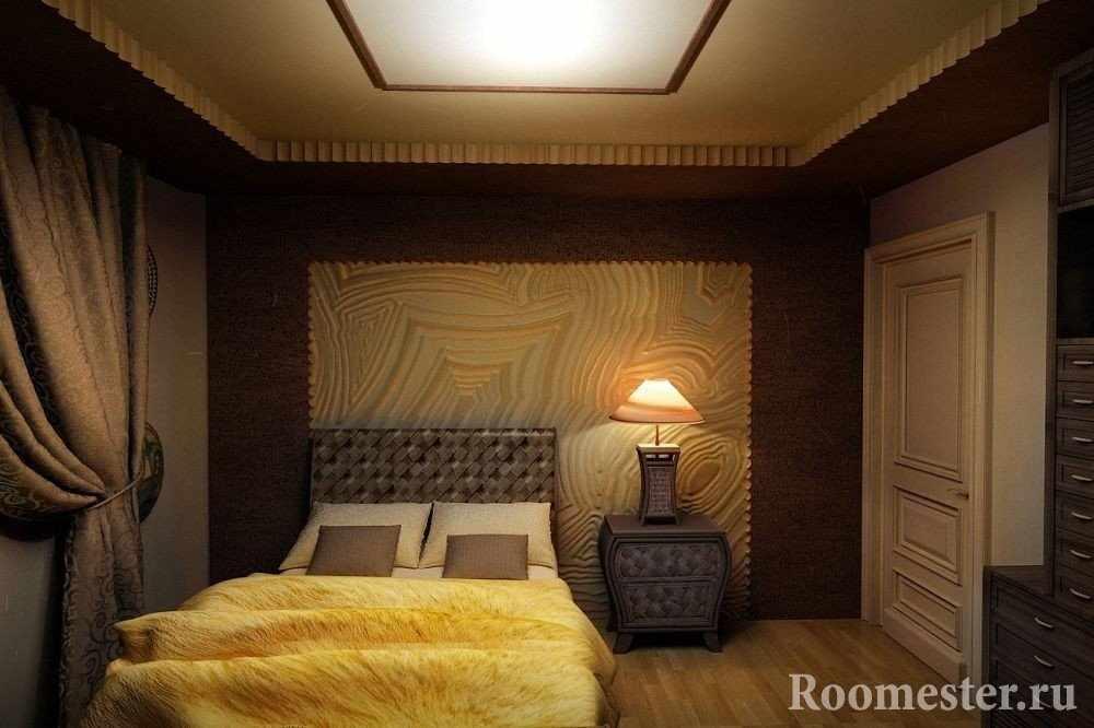 Спальня в темных тонах