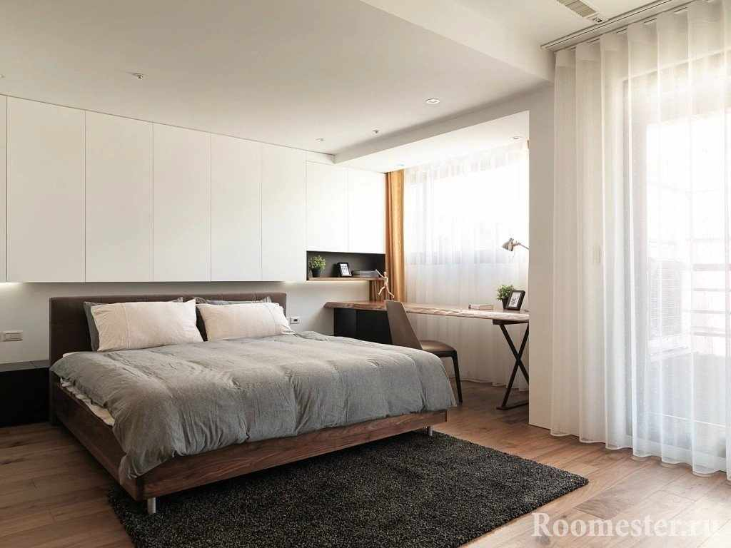 Продуманные места для хранения в спальне