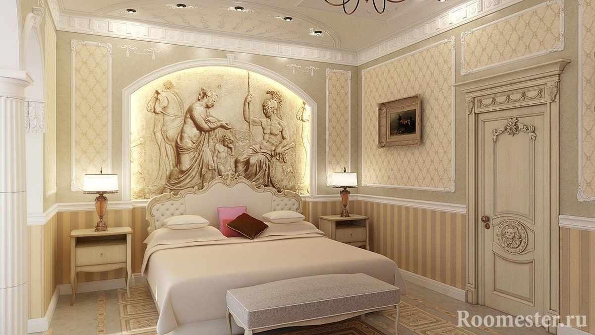 Рельефное панно в спальне