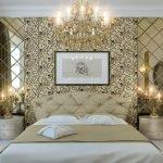Зеркала в оформлении спальни в классическом стиле